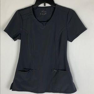 Cherokee Infinity XS Gray Scrub Top Shirt Work